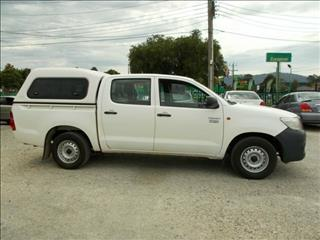 2013 Toyota Hilux Workmate Double Cab TGN16R MY12 Utility