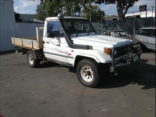 1996  TOYOTA LANDCRUISER  HZJ75RP CAB CHASSIS