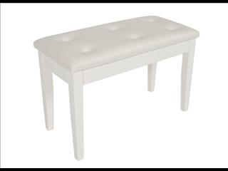 Piano Bench / ~ Polished White Piano stool