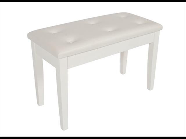 Piano Bench / ~ Polished White Piano stool