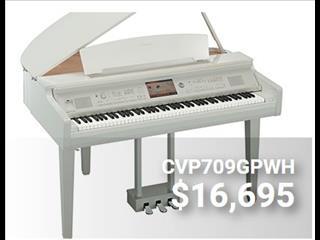 Yamaha Clavinova CVP709 White Polished Digital Grand Piano