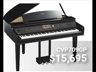 Yamaha Clavinova CVP709 Digital Grand Piano Polished Ebony