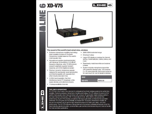 Line 6 XD-V75 Digital Wireless Handheld System