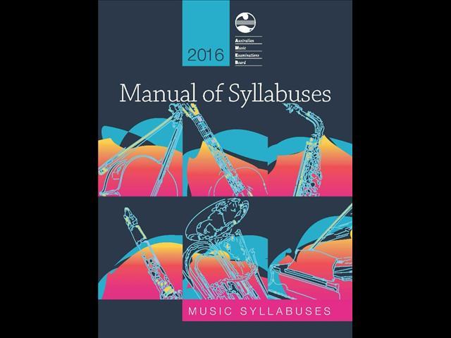 2016 AMEB Manual of Syllabuses