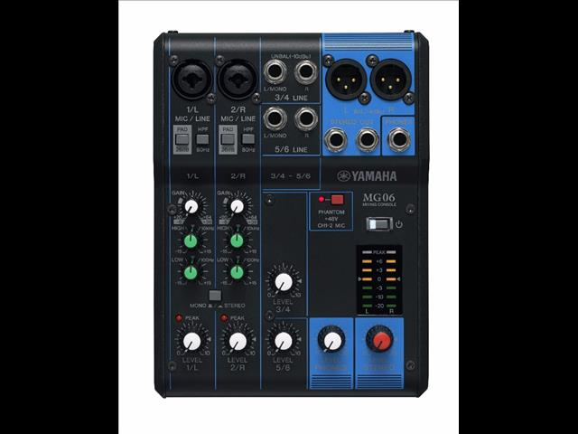 Yamaha MG06X 6 Channel Mixing Console PA