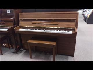 Yamaha LU101 Walnut Satin Upright Acoustic Piano (1984) Serial Number: 3641477