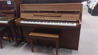 Yamaha LU101 Walnut Satin Upright Acoustic Piano (1984) Serial Number: 3641477