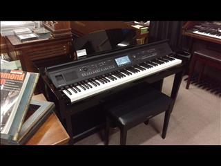 Yamaha Clavinova CVP605PE Digital Piano Polished Ebony Second hand