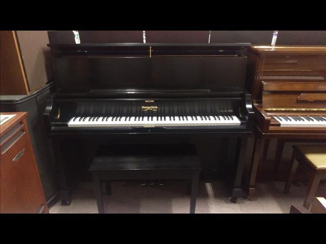 George Steck~ 116 cm Upright Piano Ebony Satin