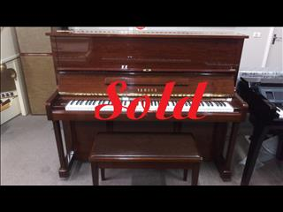 SOLD ~Yamaha U1E 121cm Upright Walnut Polished Piano # 4674060