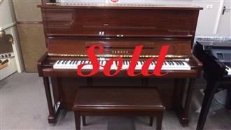 SOLD ~Yamaha U1E 121cm Upright Walnut Polished Piano # 4674060