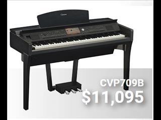 Yamaha Clavinova CVP709B Black Walnut Digital Piano CVP700 series