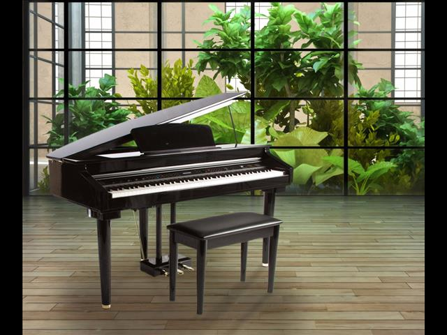 Artesia AG28 Polished Ebony Digital Grand Piano with Bench