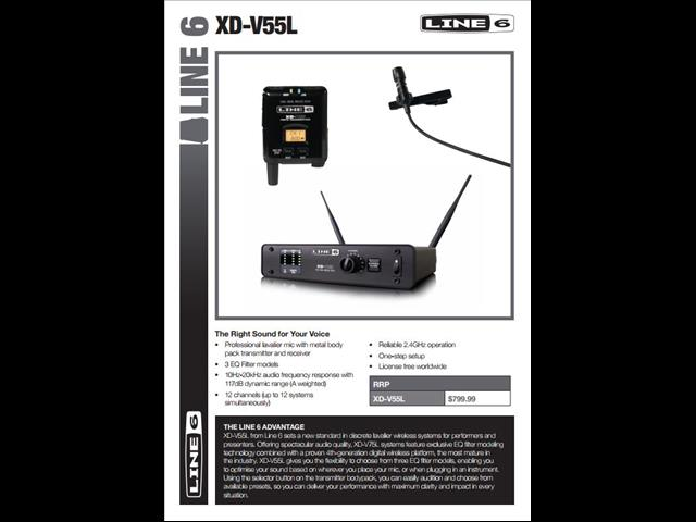 Line 6 XD-V55 Digital Wireless Lavalier System