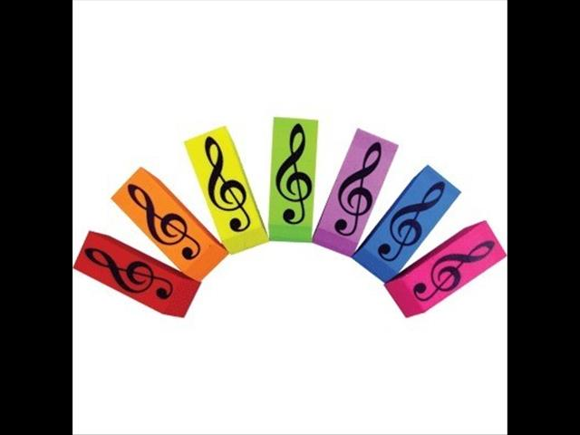 Wedge Eraser Assorted Colours