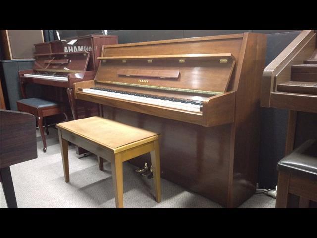 Yamaha M5 E Walnut Semi Polish Upright Acoustic Piano (1977) Serial Number: 2526204
