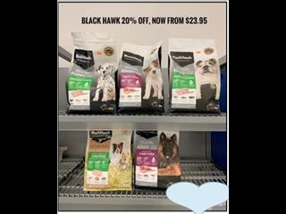 Pet Food 20 % off our already reduced prices. In store Now. Prices start at $23.95