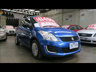 2013 SUZUKI SWIFT GA FZ 5D HATCHBACK