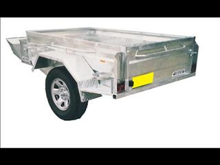 Galvanized Box Trailer Single Axle (Item 92)