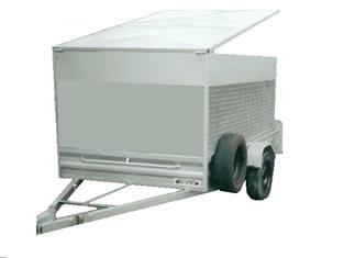 Caged Lawn Mower Trailer (Item 26)