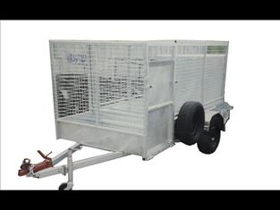 Caged Lawn Mower Trailer (Item 266)