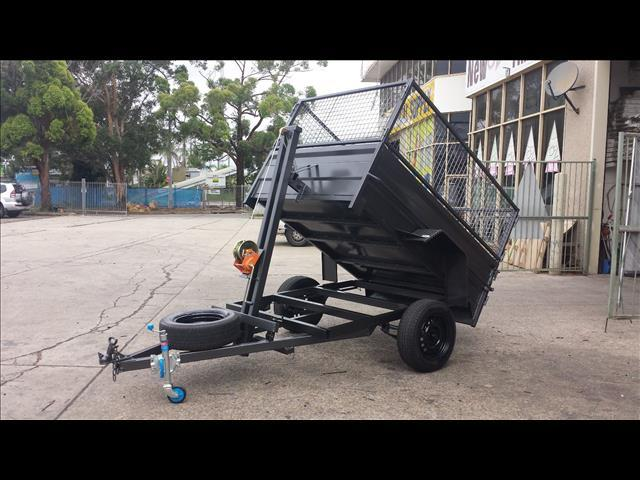 Box Trailer Winch Lift Tipper with Cage (Item 33)