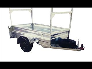 Galvanized Box Trailer with Ladder Racks (Item 93)