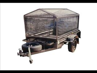Box Trailer with Cage and Roof (Item 13)