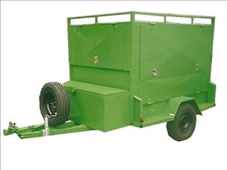 Enclosed Custom Tradesman Trailer, Single Axle with 4 Openings (Item 16)