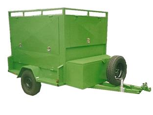 Enclosed Custom Tradesman Trailer, Single Axle with Side and Rear Gate Openings, (Item 160)