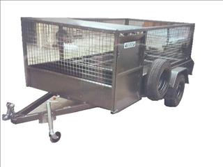 Lawn Mower Trailer with Cage (Item 188)