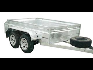 Galvanized Box Trailer with Dual Axle (Item 27)