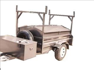 Builders Trailer with Lid - Single Axle (Item 29)