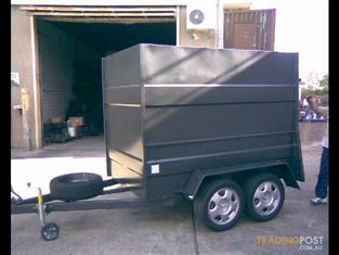 Luggage Trailer Enclosed Dual Axle (Item 95)