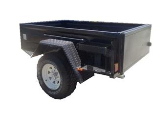 Off Road Trailer with Swinging Tailgate and PMG Tradesman Top  (Item 5)
