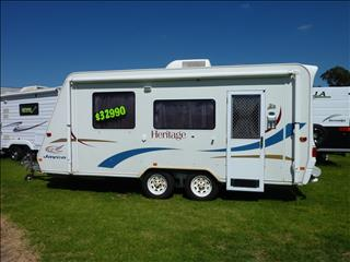 2005 JAYCO HERITAGE CARAVAN 18 FOOT WITH COMBO SHOWER/TOILET ON SALE NOW
