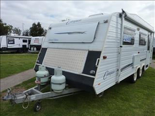 2006 COMPASS LIMITED EDITION TANDEM CARAVAN 19FT 6IN