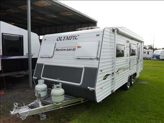 2010 OLYMPIC SEAVIEW 20 FT 6IN  CARAVAN WITH SEPARATE SHOWER AND TOILET.