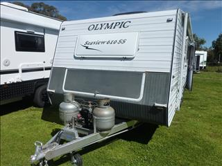 2011 OLYMPIC SEAVIEW 610SS 20 FT SHOWER/TOILET CARAVAN