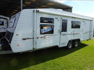 2009 OLYMPIC SEAVIEW 740SS 24FT FAMILY CARAVAN
