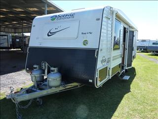 2013 SCENIC VEGA 22FT 6IN CARAVAN WITH REAR ENSUITE