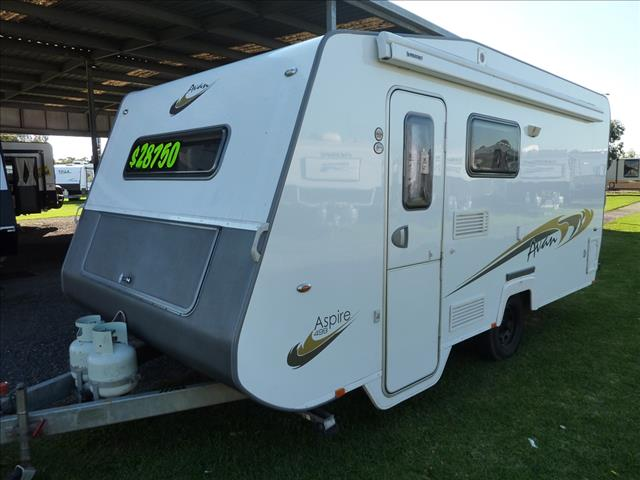 2012 AVAN ASPIRE 499 16 FOOT CARAVAN INCLUDING SHOWER AND TOILET AND A/C