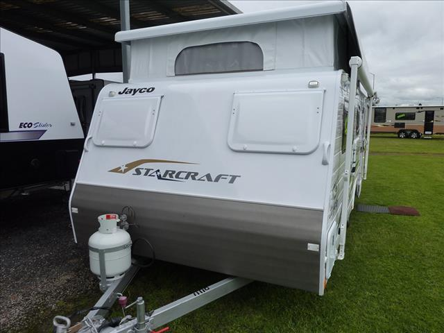 2014 JAYCO STARCRAFT POP TOP WITH A/C ,12 VOLT SYSTEM AND SINGLE BEDS