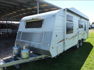 2007 CONCEPT ASCOT 22FT OZ PACK CARAVAN WITH ENSUITE ON SALE NOW