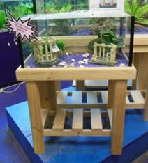 """YXY2 Aquarium Tank 2ft x12""""x12""""H, Pine Stand, Cover/Foam (reduced to clear, while stocks last)"""