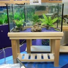 "YXY2 Aquarium Tank 3ft x14""x20""H, Pine Stand, Cover/Foam (reduced to clear, while stocks last)"