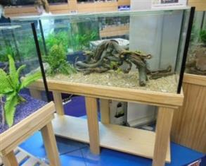 """YXY2 Aquarium Tank 4ft x14""""x20""""H, Pine Stand, Cover/Foam (reduced to clear, while stocks last)"""