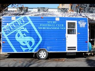 "ICONIC ""STURT FOOTBALL CLUB"" MERCHANDISE VAN"