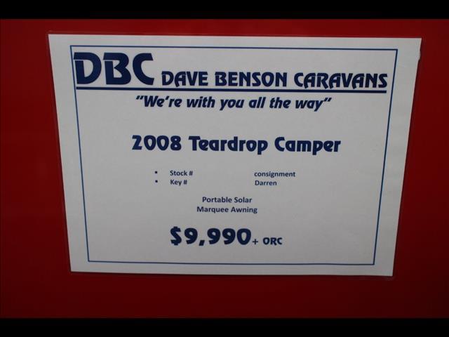 2008 EASY TRAILER TEAR DROP CAMPER