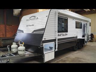 Kokoda Battalion Bunk Van - Currently in Stock ay Bayswater for Sale In Melbourne Victoria Standard Battalion Caravan $55,990.00